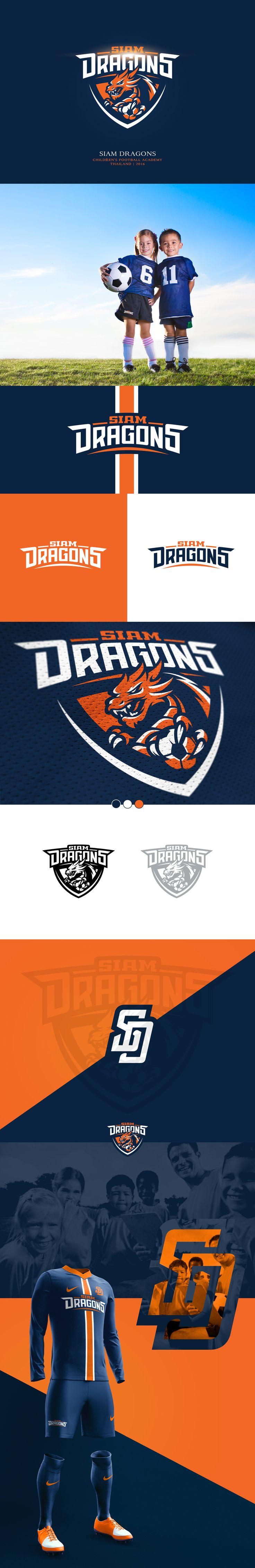 Siam Dragons   Children's Football Academy on Behance