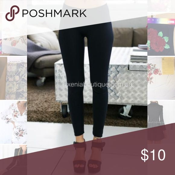 Women's basic leggings black New with tags. Black polyester 3/4 cropped. Size small. Slightly sheer. Super soft. Super stretchy. Pants Leggings