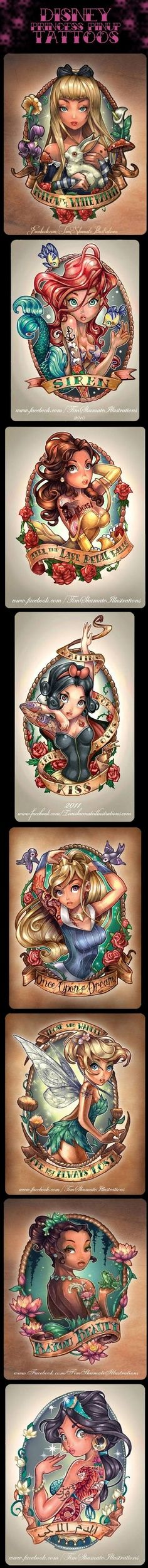 Disney Princess Tattoos Disney tattoos, I love this art idk about inking it for life but its beautiful graphic