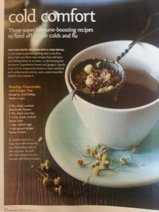 Fight flu and colds with herbal tea. Recipe from ... | Lovely Tea Time