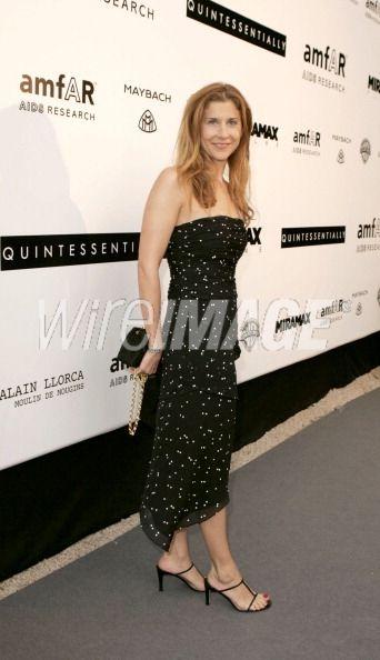 Monica Seles during amfARs Cinema...