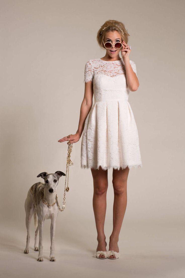 Amy Kuschel 2015 short wedding dress #weddingdress