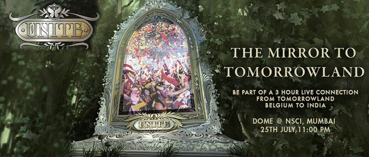 "SUNBURN Festival presents ""Unite - The Mirror to Tomorrowland"". Now experience the magic of Tomorrowland, with local DJs and a live satellite connection to and from De Schorre in Boom, Belgium. Click on the image to book your tix."