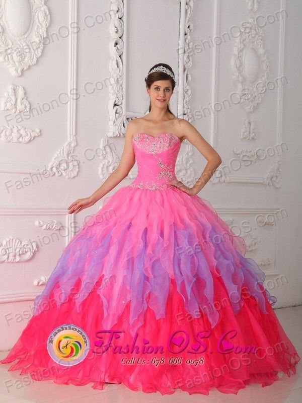 2290ca7aa02 Quinceanera 2013 Colorful Dress With Ruched Bodice and Beaded Decorate Bust  IN Tranqueras Uruguay Style QDZY354FOR