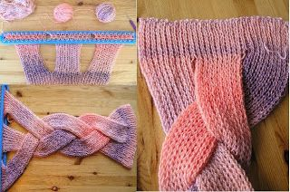 braided scarf: attempt with regular circular knitting rather than this fancy loom thing? - The Knitting Needle and the Damage Done: unusual knitting techniques