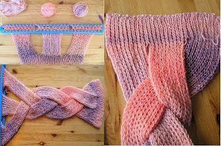 Knitting Loom Scarf Stitches : Best 25+ Loom knitting scarf ideas on Pinterest Loom knitting patterns, Loo...