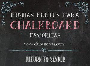 Minhas 10 fontes para Chalkboard favoritas