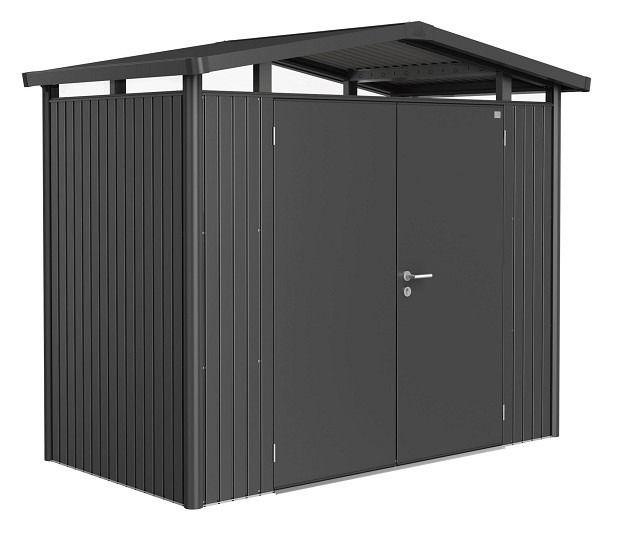 Biohort Heavy Duty Panorama P1 Double Door Metal Shed Metal Shed Shed Storage Garden Storage Shed