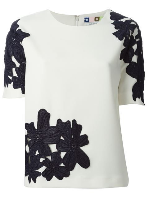 Shop MSGM embroidered floral lace top in Tessabit from the world's best independent boutiques at farfetch.com. Over 1000 designers from 300 boutiques in one website.