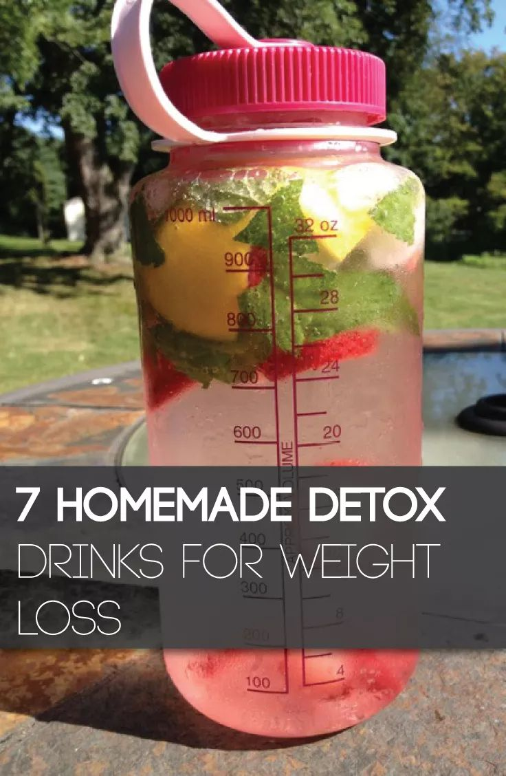 These 7 homemade detox drinks for weight loss are a natural way to melt the fat fast.
