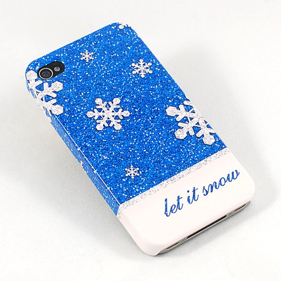 Let it Snow Christmas Phone Case  iPhone 4 4S, iPhone 5, Samsung Galaxy SII and SIII by NicoleDianeDesign, $26.50