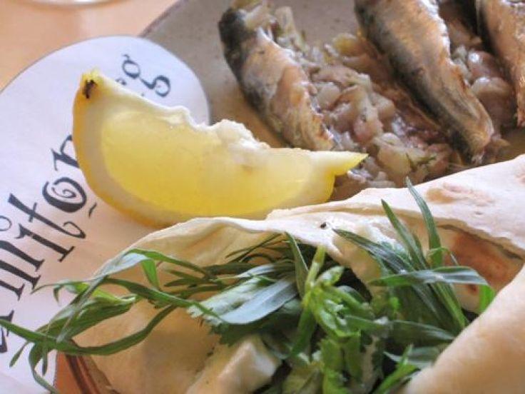 sardine, beurre, échalote, ail, citron, thym, poivre, Sel