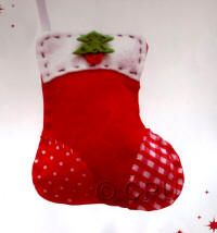 DoCrafts Mini Soft Christmas Kits - Stocking.  Perfect for making your own Xmas Tree Decorations.