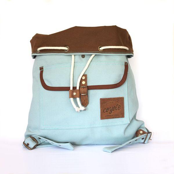 back pack celeste - coyote handmade bags
