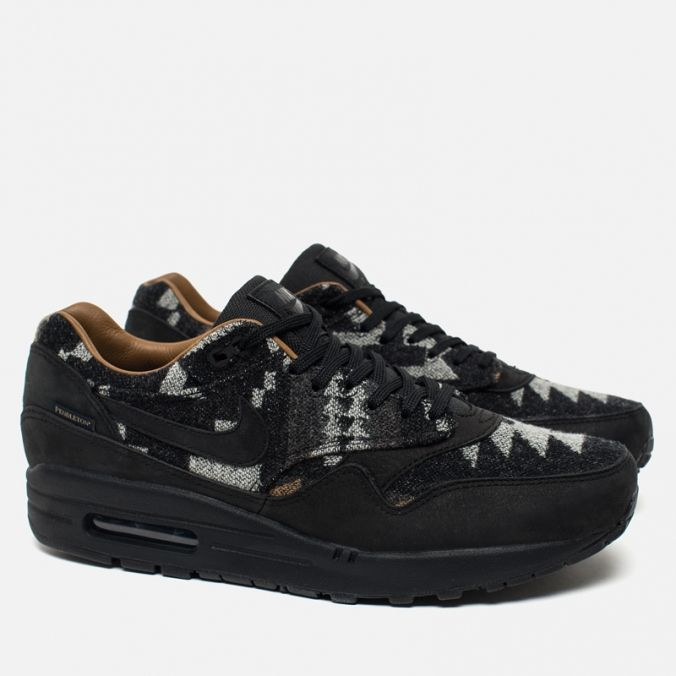 Мужские кроссовки Nike Air Max 1 Pendleton QS Black/Brown фото- 1