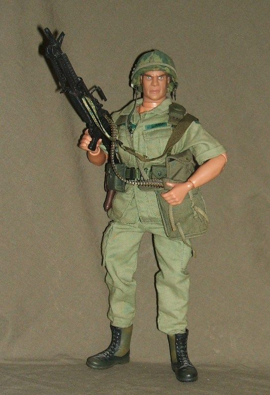 Vietnam Air Cavalry M60 Machine Gunner Custom 1 6 Scale