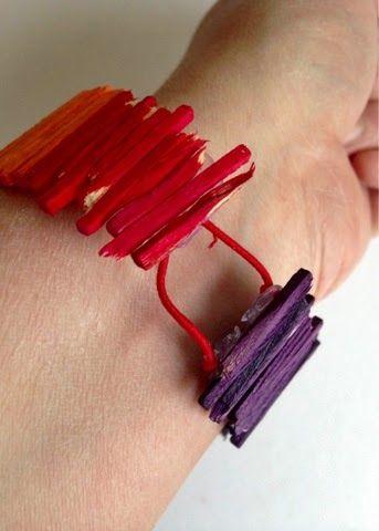 Armband av tändstickor av Linda på Form & Känsla