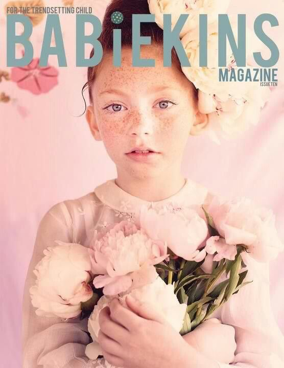 Love this! Could use one of the red head models. TT Babiekins Magazine issue 10 cover. Photo by Lara Rossignol x