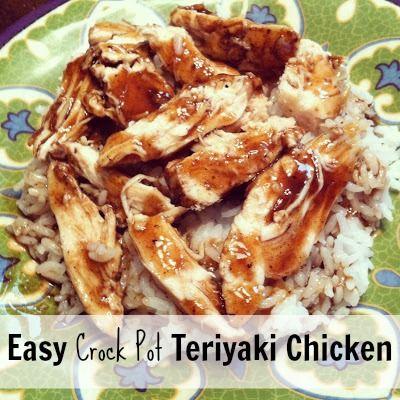 Crock Pot Teriyaki Chicken   Apple cider, Easy teriyaki ...
