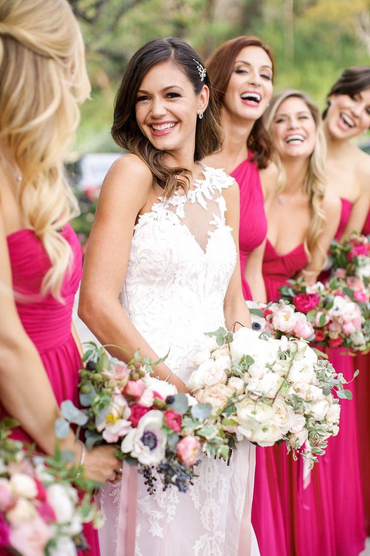 The 25 best fuschia bridesmaid dresses ideas on pinterest desiree hartsock chris siegfrieds bachelorette wedding fuschia bridesmaid dressespink ombrellifo Image collections