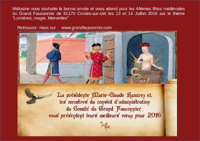 Les fêtes du Grand Fauconnier à Cordes