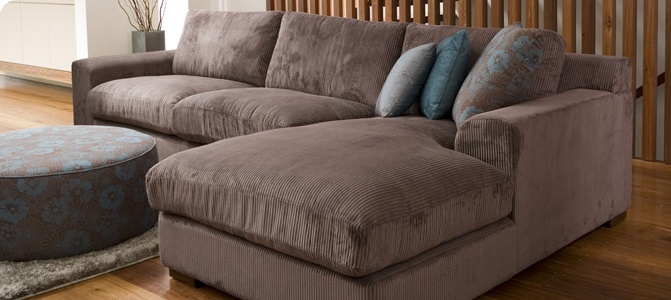 Armless one seater with chaise.