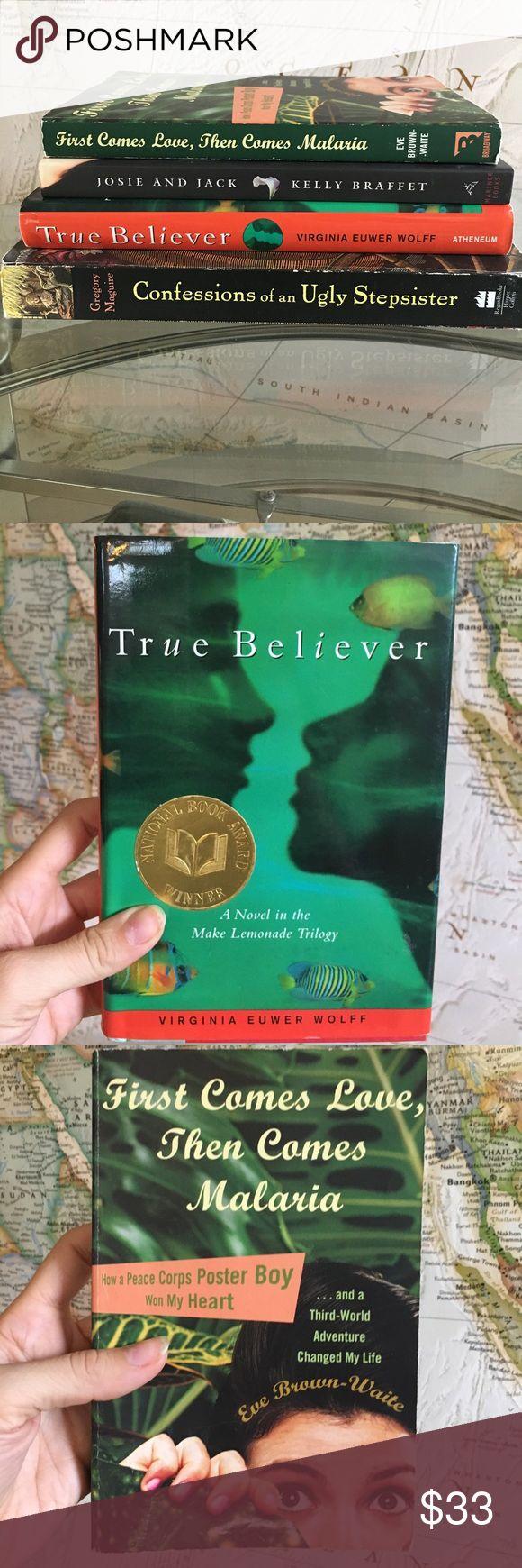 4 Young Adult Fiction Book Bundle (hard&paperback)