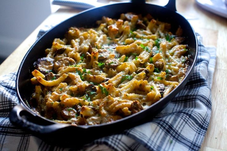 Invite someone to share this delicious baked dish, perfect for entertaining! Mushroom and Marsala Pasta Bake