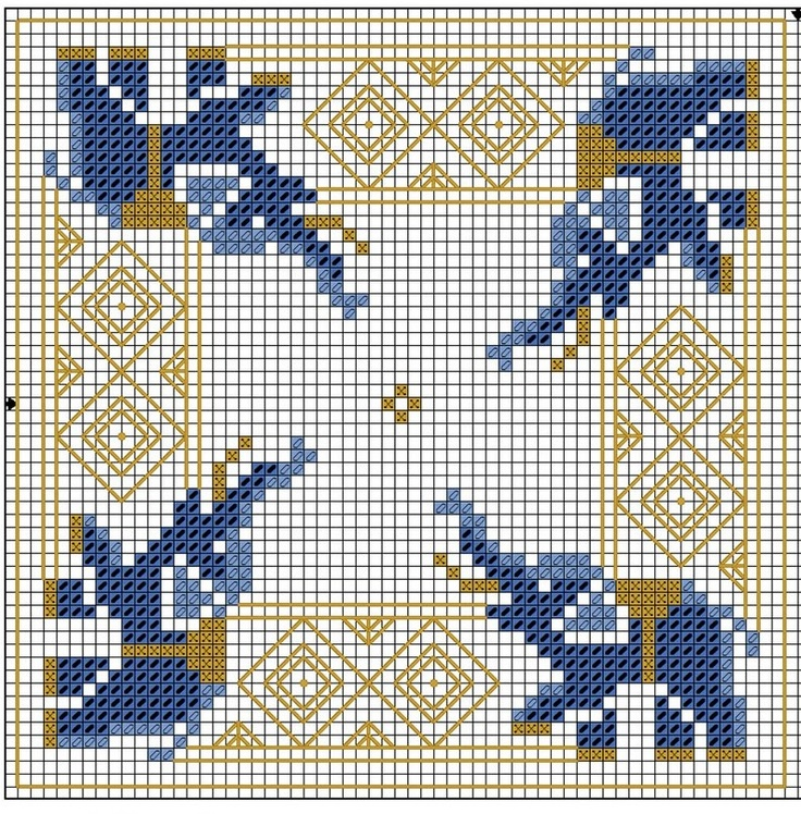 Biscornu Point de croix : ❤️*❤️ cross stitch.