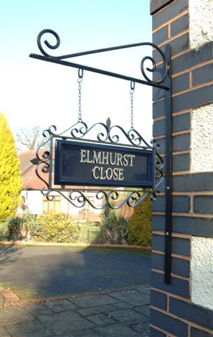 wrought iron signage - Google Search