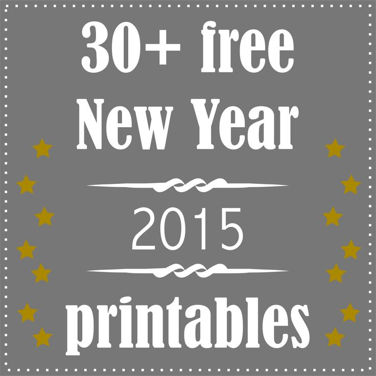 30 + free printable New Year's Eve decoration and gifts - Silvester Druckvorlagen - round-up
