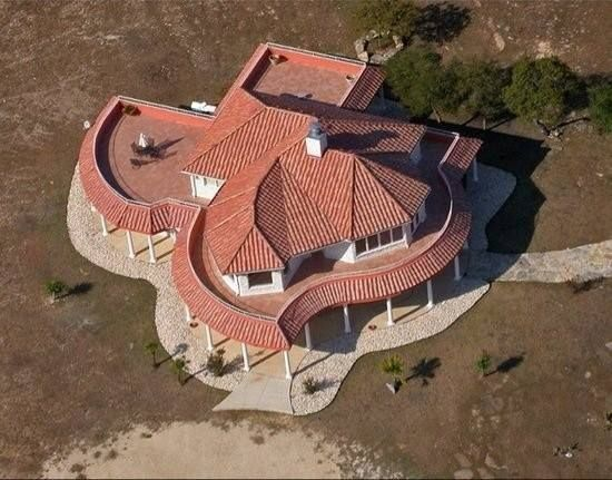 Texas shaped house in Canyon Lake, Texas.  Are Texans obsessed with Texas? Mebbe!  www.rx4nails.com