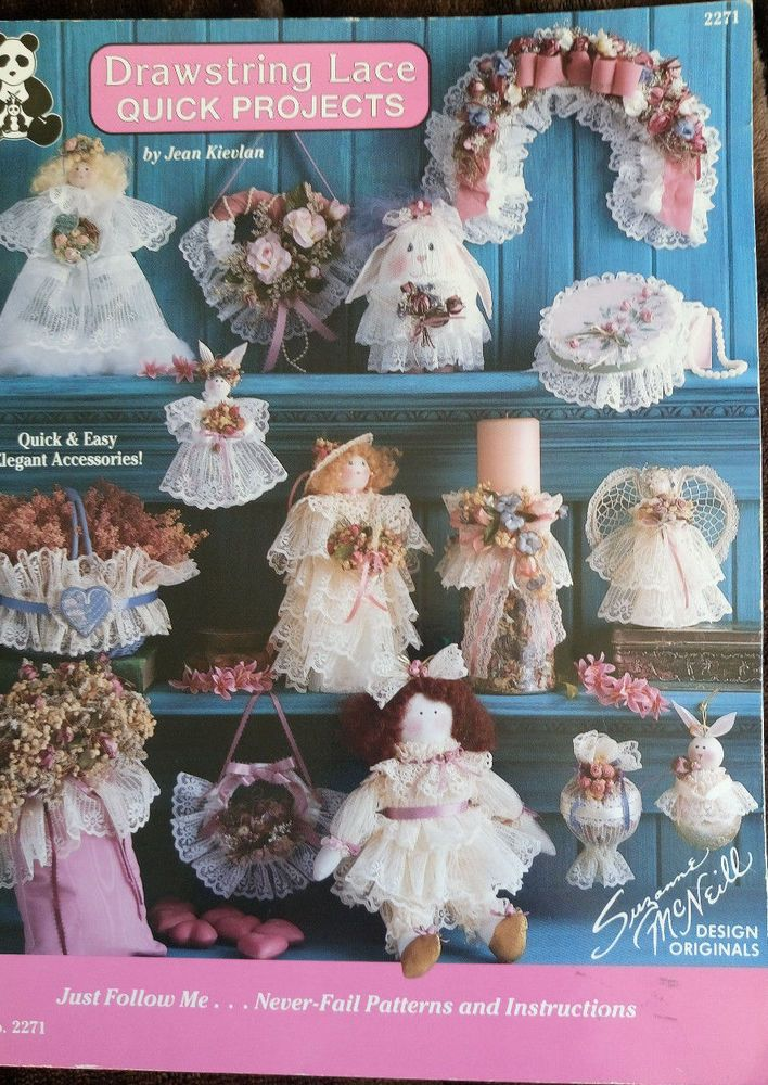 Drawstring Lace Quick Projects Suzanne McNeill Designs pattern book angel doll #SuzanneMcNeill #Patterns