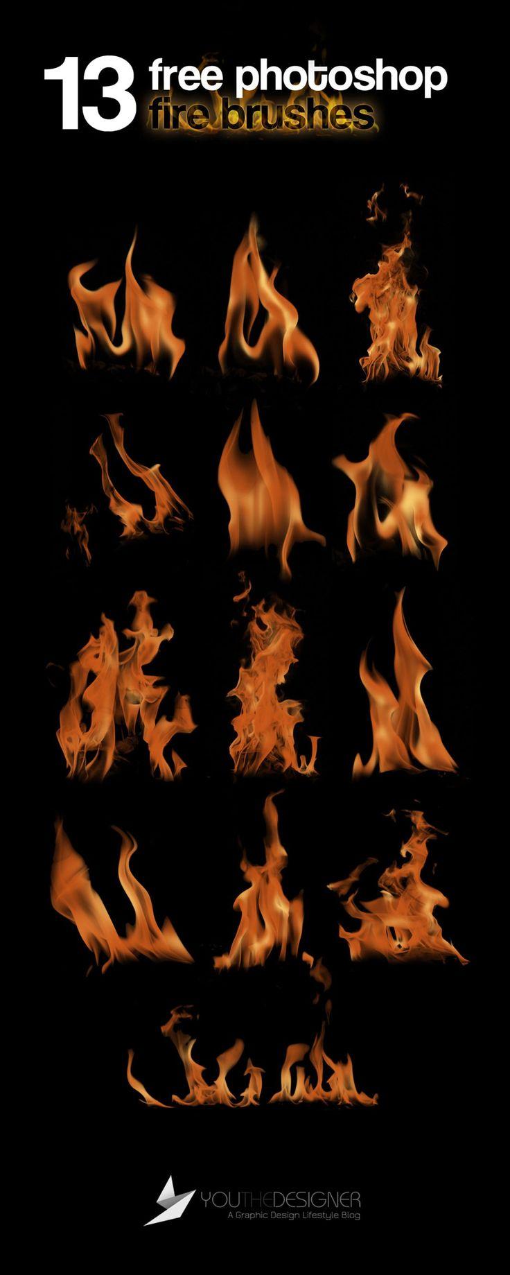 13 Free Photoshop Fire Brushes