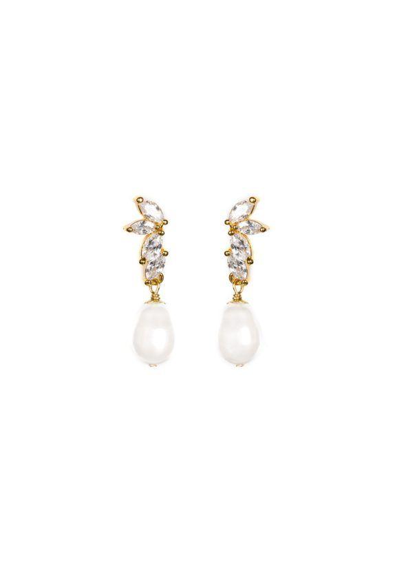 LOURDES Pearl Bridal Earrings 3