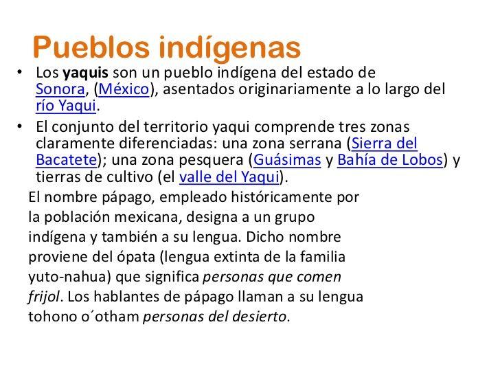 cultura yaqui | pueblos indígenas los yaquis son un pueblo indígena del estado