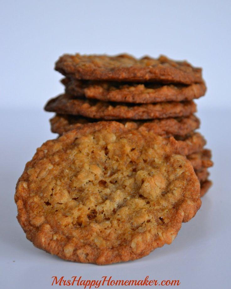 Grandma Millie's Famous Oatmeal Cookies - Mrs Happy Homemaker