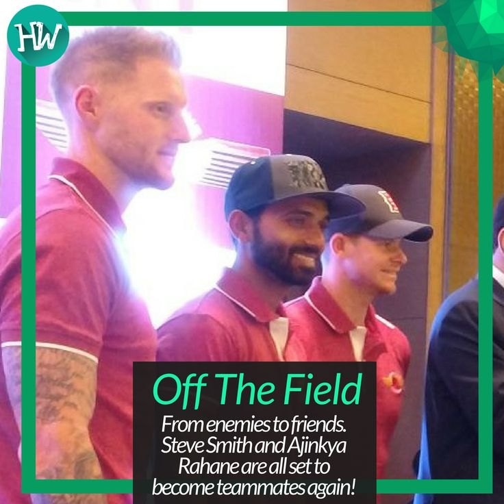 #OffTheField Ajinkya Rahane, Steve Smith and newbie Ben Stokes came together to unveil a sponsor for the Rising Supergiant! #IPL #IPL2017  #cricket #RPS