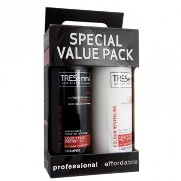 Tresemme Deep Cleansing & Remoisturise Protection Shampoo & Conditioner Pack is designed to remove any styling products which have built up over time.  It also gently cleansesas wellas hydrating the hair and giving your hair a healthy, glossy finish.