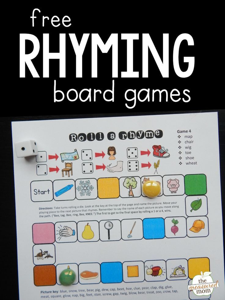 Grab this set of four rhyming games for practice with this important skill!