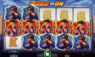 The Heat Is On  5 reels and 45 paylines. Available to play on all devices from 50p a spin, this police themed game has 2 wild symbols with 5 of 1 on a payline rewarding you with a massive 200 times your stake. The main attraction is the Free Spins feature where you can begin with up to 80 free spins – you can also retrigger giving you up to 160 free spins altogether.Vizit our page to find out more new games by microgaming