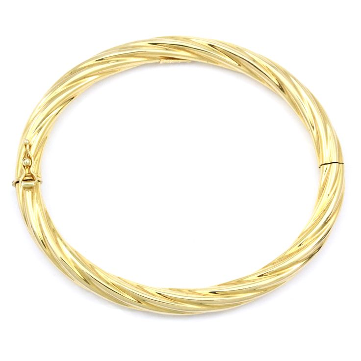 One stunning 14k bangle from our immaculately restored estate section.