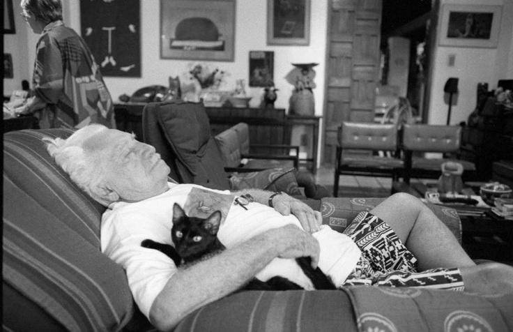 [Jorge Amado: gente de gatos] > [*- Novelista brasileño, cuyas obras están basadas en la vida de su estado natal, Bahía. Absolutamente realista, con frecuencia irónico, muestra un profundo análisis psicológico en sus novelas que reflejan su compromiso político denunciando injusticias sociales. En 1961 fue elegido miembro de la Academia Brasileña de las Letras.(http://www.epdlp.com/escritor.php?id=1385)]