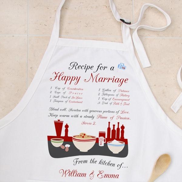 newly weds apron