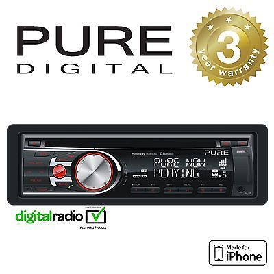 Pure dab+ radio car headunit #stereo cd player with iphone #control & #bluetooth,  View more on the LINK: 	http://www.zeppy.io/product/gb/2/291634428931/
