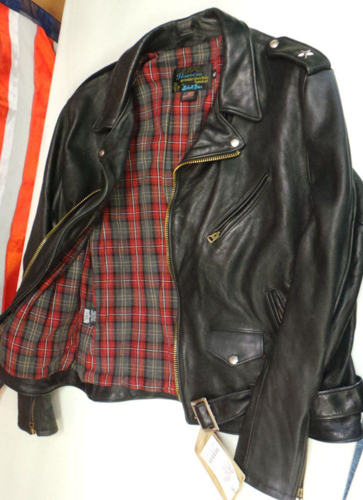 Schott Bros Perfecto PER 2 motorcycle Vintaged Leather Jacket Made In USA NWT  #schottbros #steerhidePER2PERFECTO