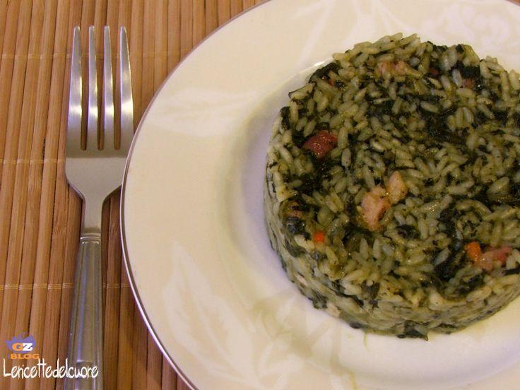 Risotto spinaci e pancetta