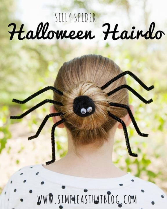 diy halloween hairdo