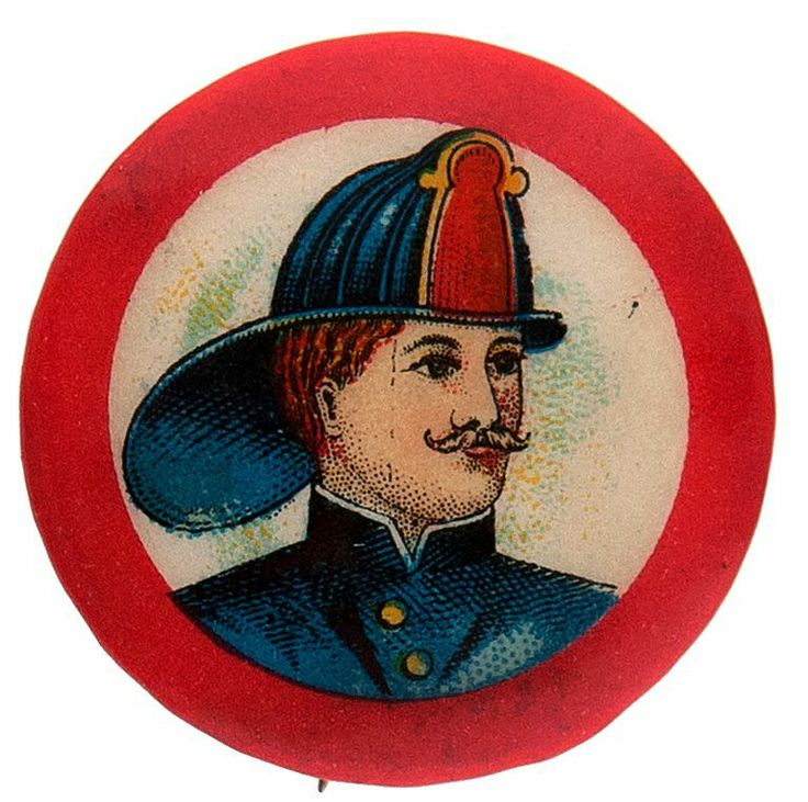 On April 1, 1853 Cincinnati became the first U.S. city to pay fire fighters a regular salary. This and other firemen buttons can be found at TedHake.com!