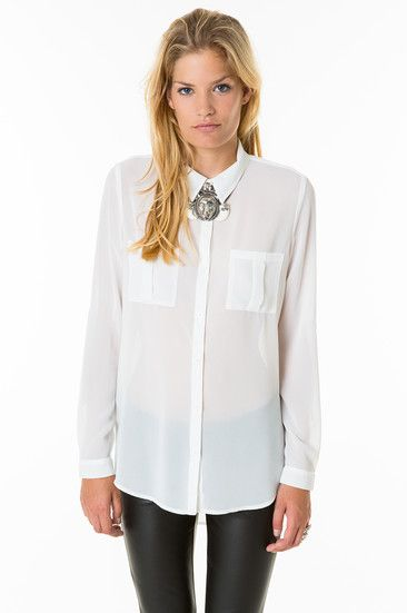 WOVEN BLOUSE, Off White,